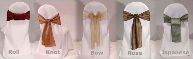 how to tie a wedding chair sash bow 2